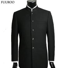 Männer Anzug Setzt Chinesische Tunika Anzüge Stehkragen Klassischen Anzug Blazer Marke Formal Männlichen Baumwolle Anzug Sets Y0470