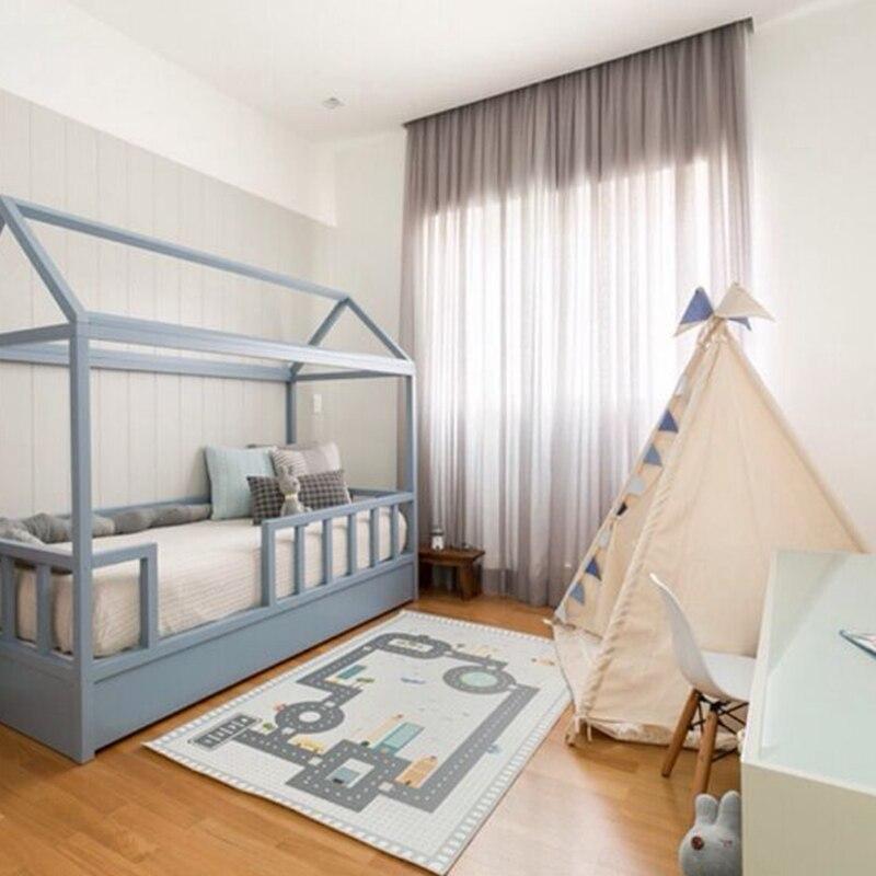 D bébé chambre jouer jeu tapis voiture route ramper couverture tapis de sol Rectangle tapis tapis tapis pour enfant chambre décoration INS bébé cadeau