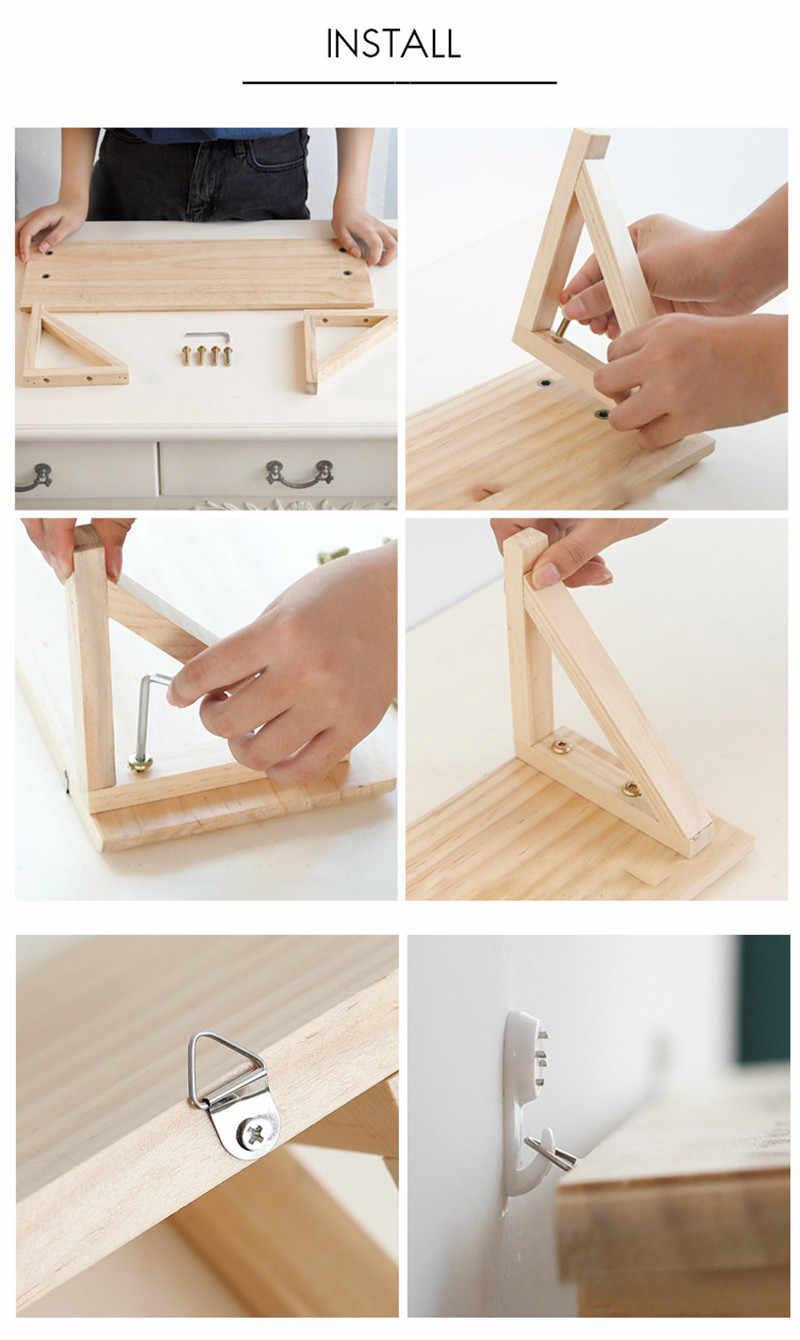 Wall Hanging Book Magazine Figurines Crafts Display Shelves Diy Wood Home Kitchen Bathroom Closet Multi