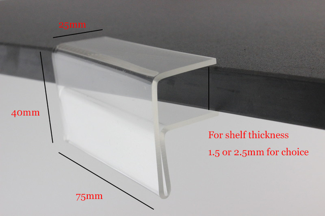 Acrylic Shelf Sign Frame Clips Label Price Tag Pop Banner