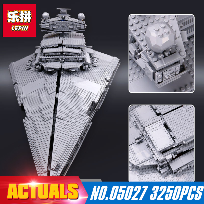 LEPIN 05027 3250Pcs Star Wars Emperor fighters starship Model Building Kit Blocks Bricks Toy Compatible  10030
