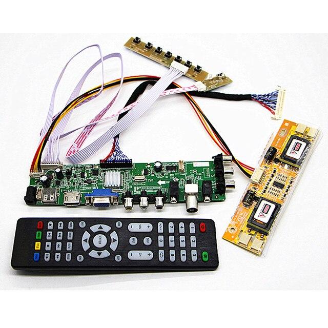 """DVB-T2/DVB-T/DVB-C LCD TV digital controlador Kit de 19 """"M190A1-L0A/L02 M190PW01 1440*900 LCD Placa de controlador kit de bricolaje"""