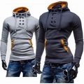 Sets the new 2015 double-breasted coat man flannelette hooded fleece