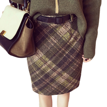 Women's Plaid Skirts Tartan Woolen Plaid Skirts Kilt Winter Wool Vintage Plaid pencil Skirt Wool Tartan warm midi Skirts