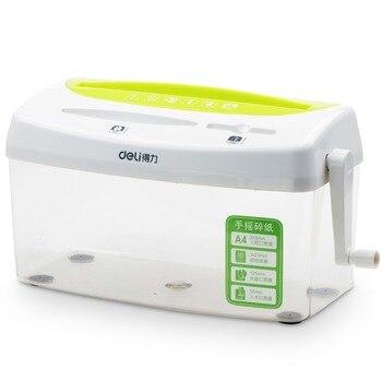 Trituradora de mano Personal hogar papel triturado foto tarjeta de crédito Deli 9935
