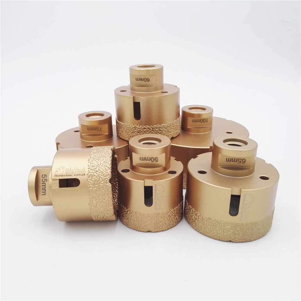 DIATOOL Big size Vacuum brazed diamond drilling core bits with 15MM Diamond height 50/55/60/65/75/100mm M14 Thread свитер tom tailor 3022847 99 10 6519