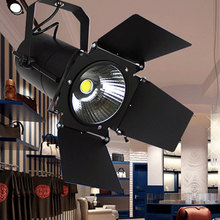 LED Track Light 10W/20W/30W 220V COB Clothing Store Light Windows Showrooms Exhibition Spotlight adjustable Cover