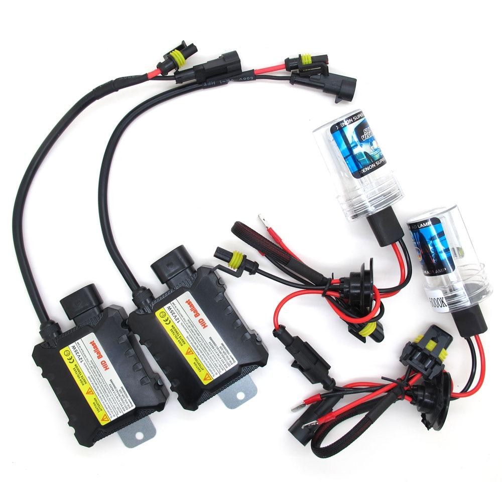 GLF H11 6000K Slim Hid Xenon Conversion Kits Black Ballast lights 35W Headlight
