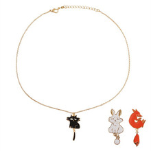 free shipping fashion women New Jewelry wholesale Cute Cow Rabbit Fox Necklace