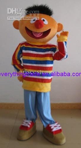 Heißer Verkauf Nette Erwachsene Bert Und Ernie Maskottchen Kostüm