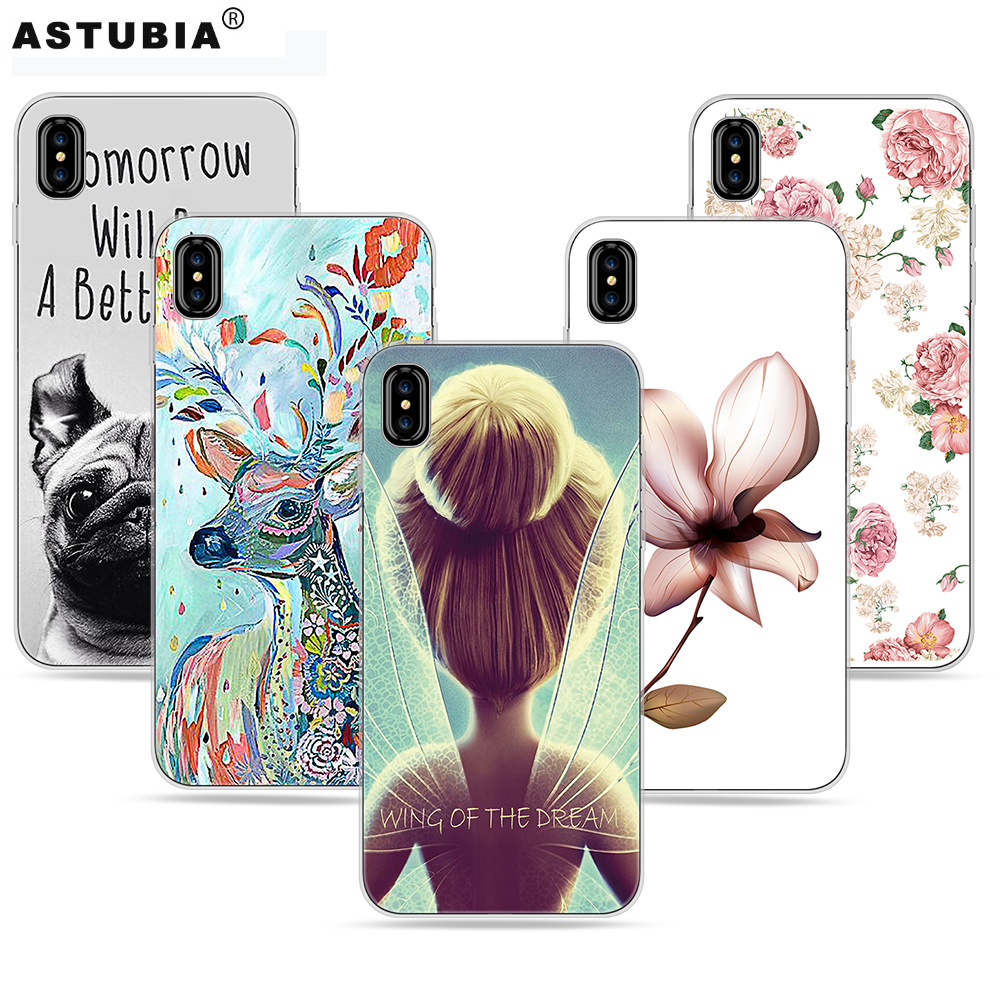 best authentic 7a7fb 52be3 US $4.32 |Flower Girl Case For iphone X Case Tiger Dog Pattern Gel  Transparent Soft Silicone Cover For iphoneX Protection Phone Cases-in  Fitted Cases ...