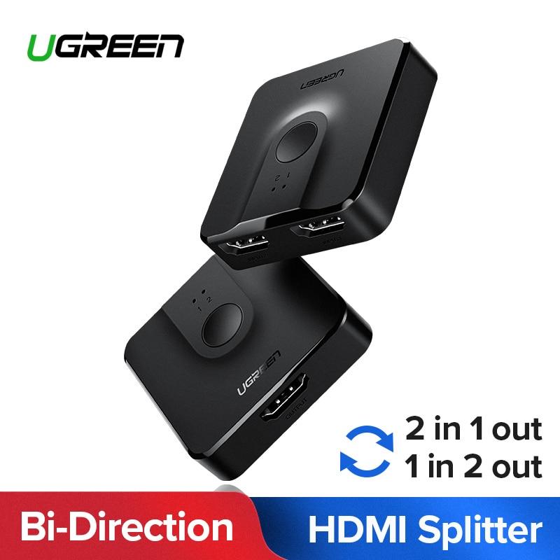 Ugreen HDMI interruptor divisor Bi-dirección 4 K HDMI Switcher 1x2/2x1 Adaptador 2 en 1 Convertidor para PS4/3 caja de TV HDMI Splitter