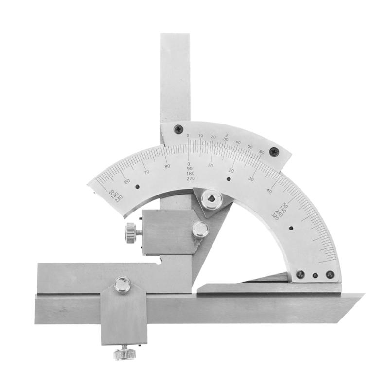 0-320 Degrees Precision Angle Ruler Measuring Finder Scales Universal Angle Gauge Bevel Protractor Tool 7 square carpenter s measuring ruler layout tool triangle angle protractor