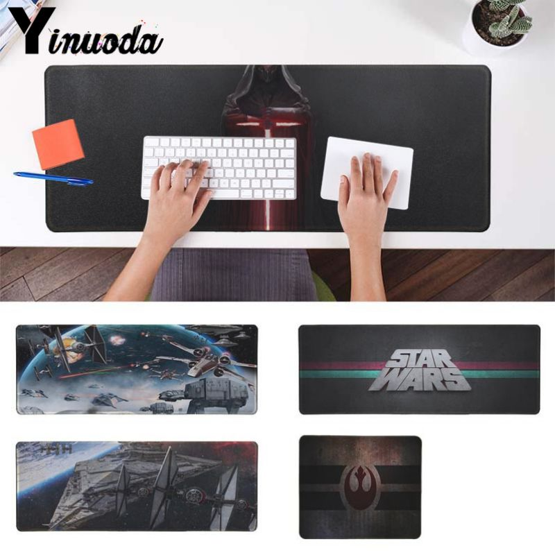 Yinuoda Star Wars DIY Design Pattern Game mousepad Size for 30x90cm and 40x90cm Gaming Mousepads