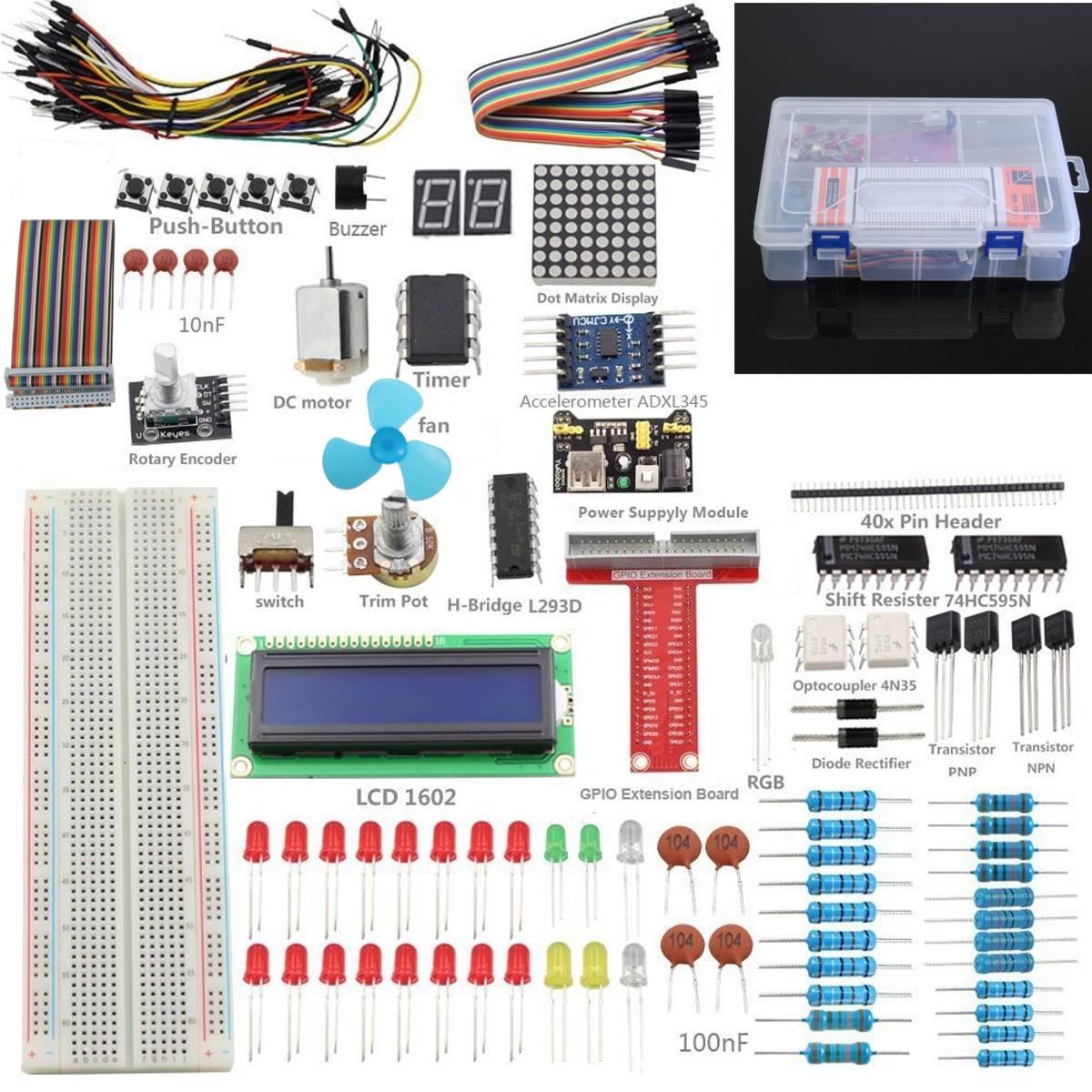 1Set Super Starter Kit for Raspberry Pi 3 2 Zero w wireless & Model B+ A+ интегральная микросхема oem 3 2 pi b 512m pi b 1 raspberry pi 2 set 3