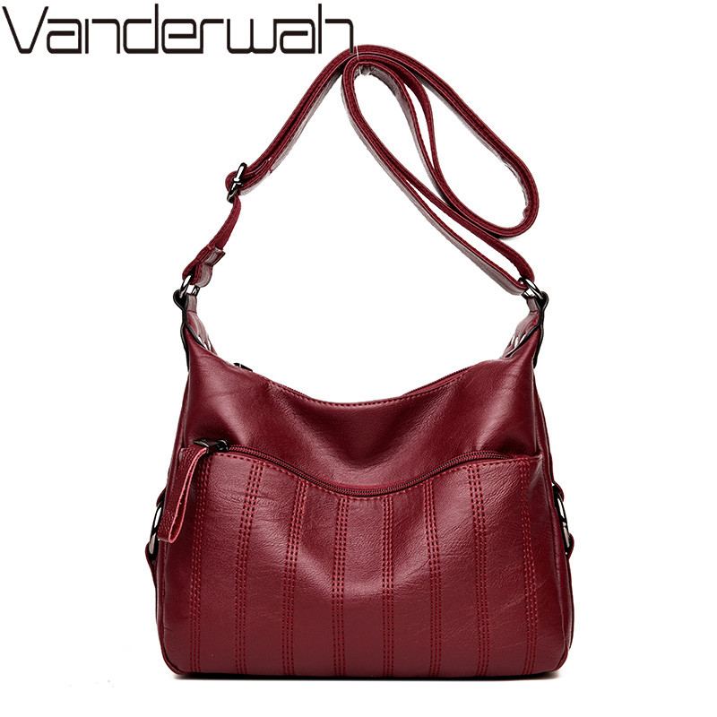 VANDERWAH NEW women pu leather Top-handle bags handbags women famous brands female casual shoulder bag Tote for girls SAC A MAIN kzni genuine leather crossbody bags for women purses and handbags women famous brands top handle bags female 2017 sac a main9012