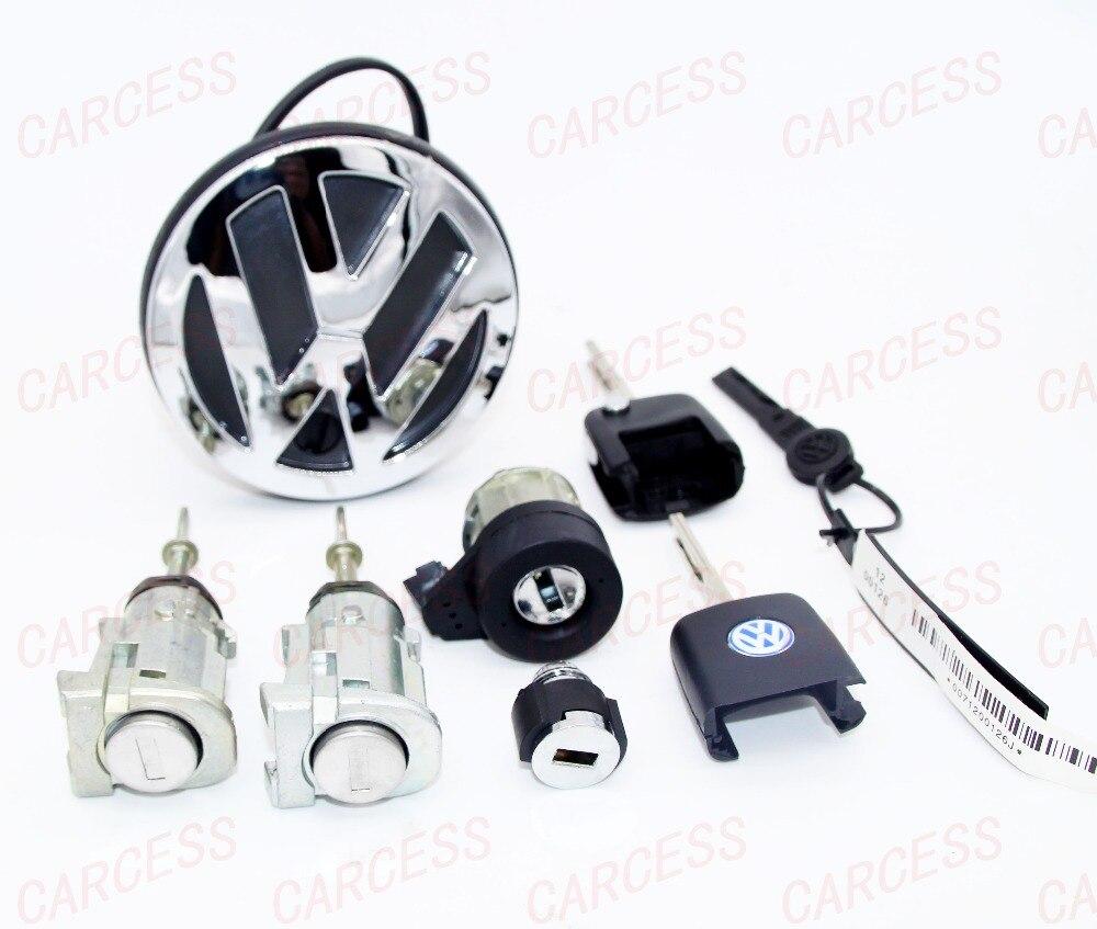 ФОТО WHOLE CAR LOCK SET ASSEMBLY IGNITION SWITCH DOOR TRUCK LOCK STORAGE LOCK FOR VW BORA AUTOMATIC VEHICLE OE 1U0 837 167C 1U0837168