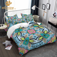 Bohemia Bedding Set Colorful Duvet Cover Queen Butterfly King Size Bedding Ethnic Style Home Textile 3D Bed Linen 25