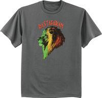 Rastafarian t shirt Rasta Lion tee shirt dark gray tshirt Lion of Judah summer o neck tee, free shipping cheap tee 2019 hot tees