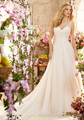 Simple boda de playa bohemio vestidos de cuello v gasa larga vestidos de novia 2015 más el tamaño de vestidos de bola blanca