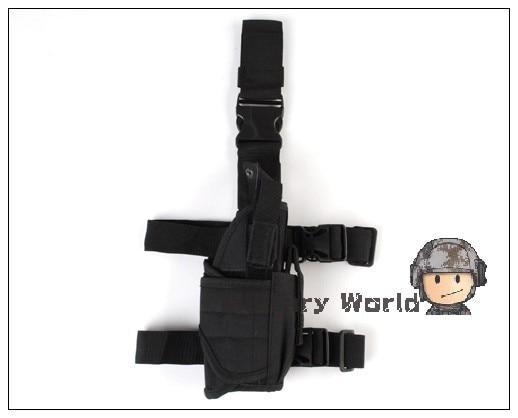 Airsoft Army Tactical Universal Pierna de La Gota Holster Pistola Pistola Para L