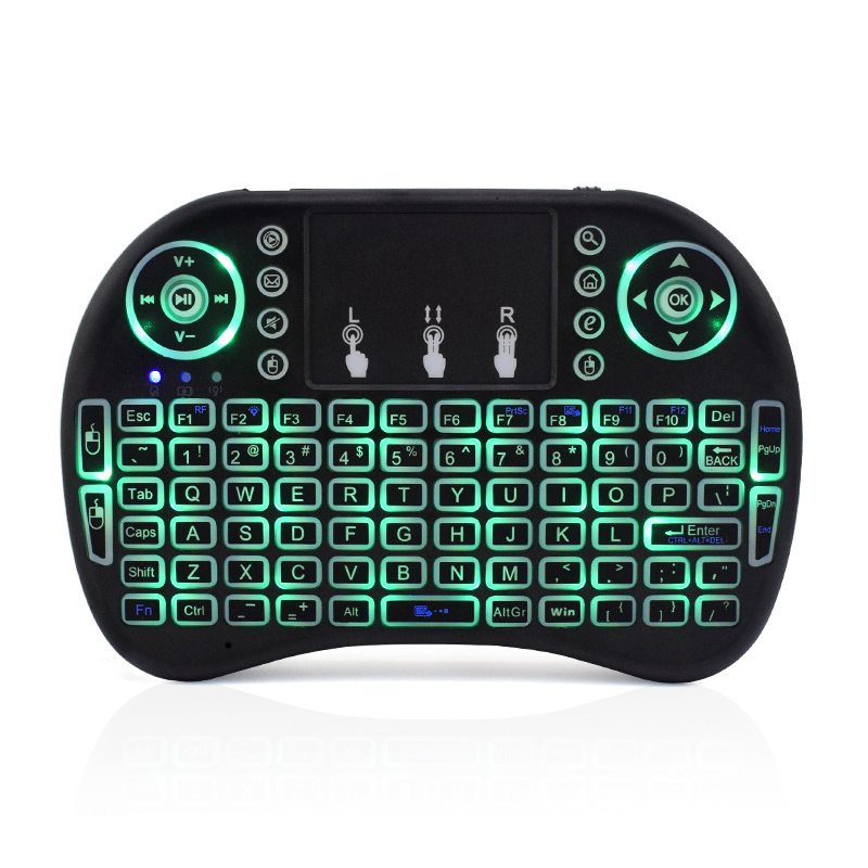 Backlight mini keyboard i8 with Touchpad air mouse Russian english spanish arabic Remote control for computer Android TV BOX
