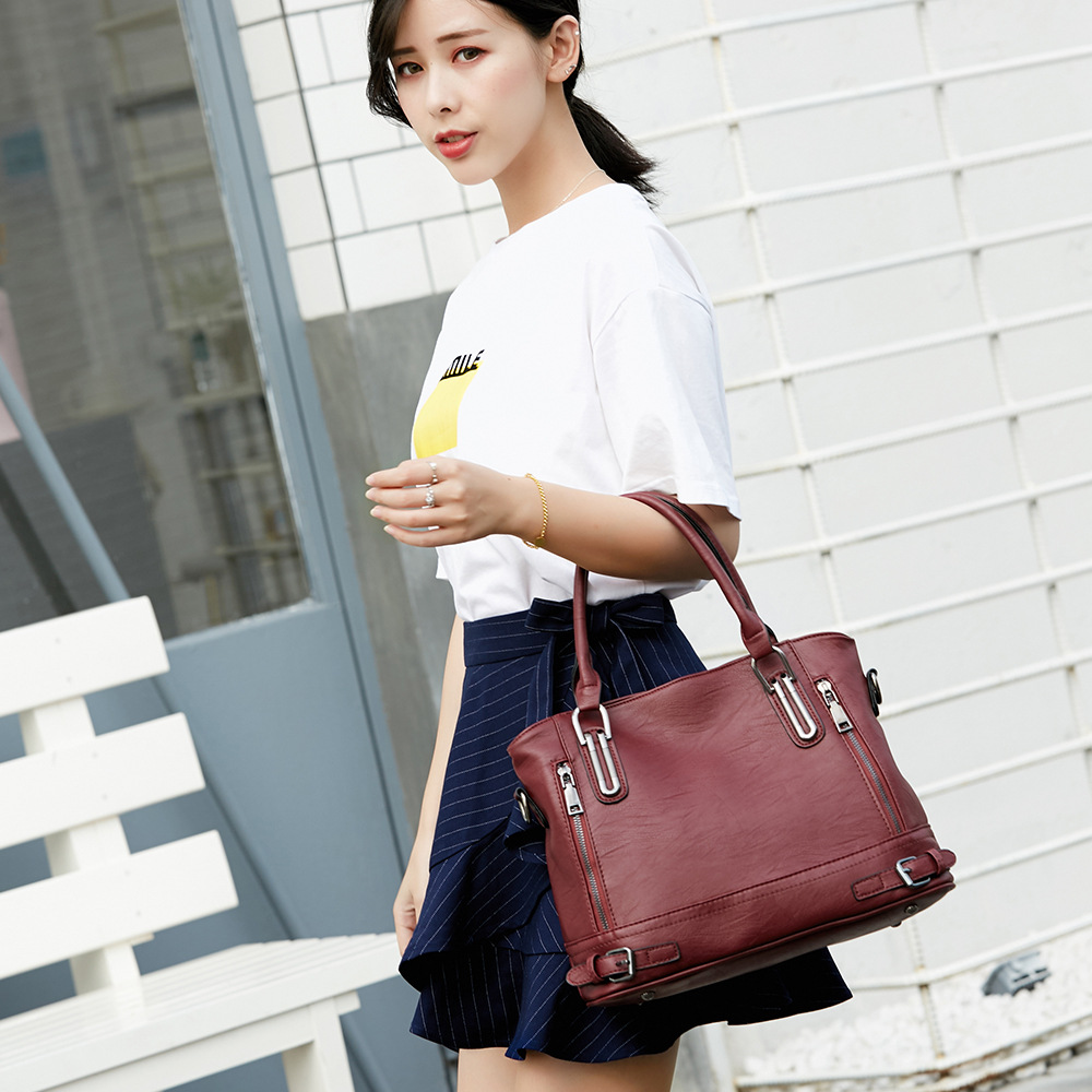 Fashion European and American Style Women Totes Simple Patchwork Large Capacity Single Shoulder Bag Female Shopping& Travel Bag