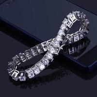10*215mm Hip hop Bling Iced Out Cubic Zirconia Bracelet Tennis Chain Bracelets Women Men 1 Row CZ Link Chain Jewelry Gold Silver