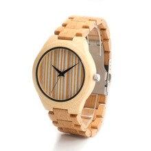 БОБО ПТИЦА Японский miyota 2035 движение наручные часы из натуральной кожи полосы бамбука деревянные часы для мужчин и женщин