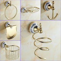 Gold Color Brass Material Variouse Item In Bathroom Accessories X16131 1