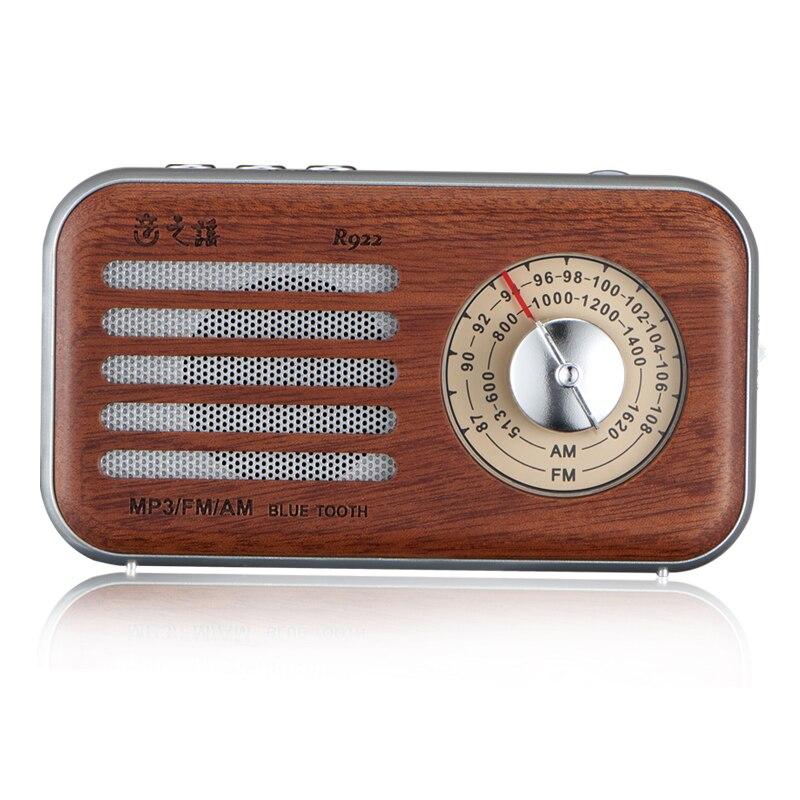 Consumer Electronics Speakers Tabletop High Sensitivity Anti-interferen Fm Radio Vintage Retro Portable Speaker Built-in Mircphone Wood Grain Hi-fi Sound
