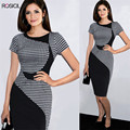 New Womens Elegant 1950s Vintage Pinup Retro Rockabilly 3/4 Sleeve Bow Party Work Sheath Bodycon Wiggle Pencil Dress Office Lady