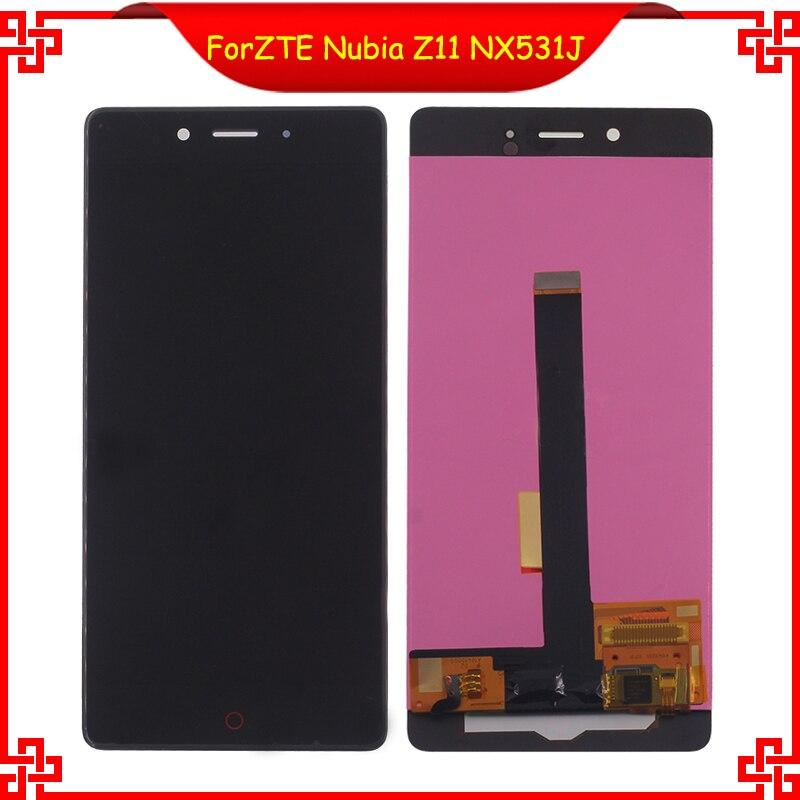 Para ZTE Nubia Z11 NX531J LCD Screen Display Toque Digitador Assembléia Peças de telefone Para ZTE Nubia Z11 Telefone Móvel LCD Ferramentas Gratuitas
