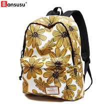 New Floral printing schoolbag girls school backpack Casual bag Printing Female Backpack for 2018 college student laptop