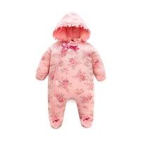 2020 bebê recém-nascido meninas lua cheia roupas 3-18m bebê espessamento macacão meninas princesa roupas de inverno outwear macacão footies