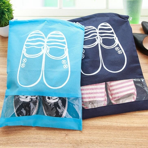 Travel Accessories Shoes Bags For Girls Women Dustproof Cover Shoes Bags Non-Woven Fabric Travel Beam Port Shoes Storage Bags Lahore
