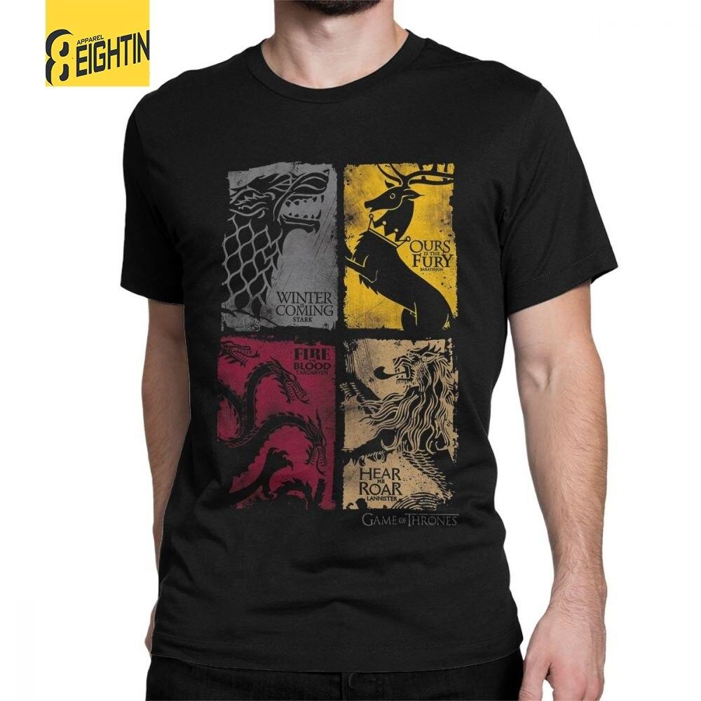 Camiseta Juego Tv Tees Hombres Vintage De Tronos Stark Serie Casa xwFwvqf6H
