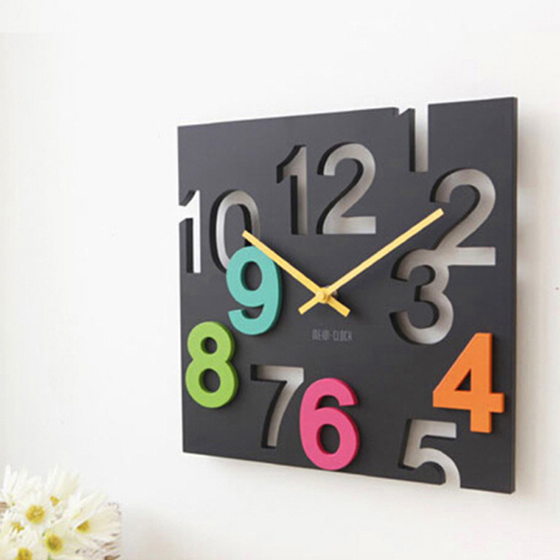 Hot Sale Square Large Wall Clock Modern Digital 3d Decorative