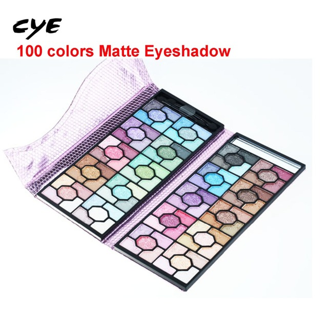 2016 Attractive Full Shimmer 100 Colors Eye shadow pallete Cosmetic Mineral Make Up Professional Makeup Eye Shadow Palette Kit