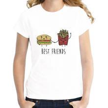 Print Cotton High Quality Short Sleeve Printing O-Neck Womens Best Friends The Best Friends Shirt tom jones the best o