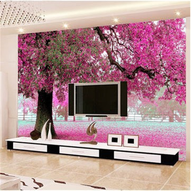 beibehang para quarto photo wallpaper custom TV setting wall sitting ...