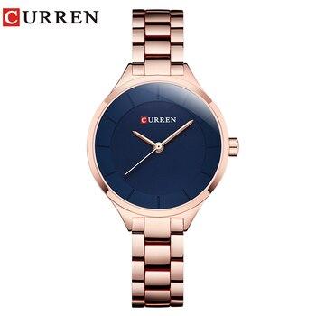 CURREN Top Brand Fashion Ladies Watches Stainless Steel Band Quartz Female Wrist Watch Gifts Clock Relogio Feminino - discount item  53% OFF Women's Watches