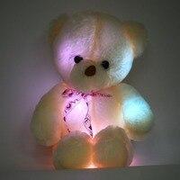 OCDAY Romantic 50CM Colorful Glow LED Light Plush Toys Plush Bear Doll Throw Pillow LED Bear