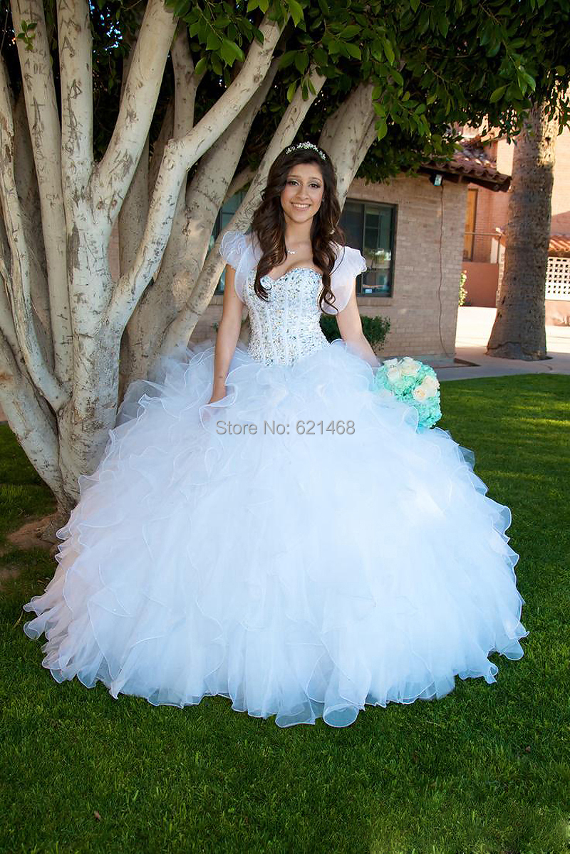 White dresses for quinceaneras