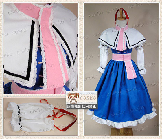 Free shipping Touhou Project East Project Mystic Square Alice Margatroid Cosplay Costume