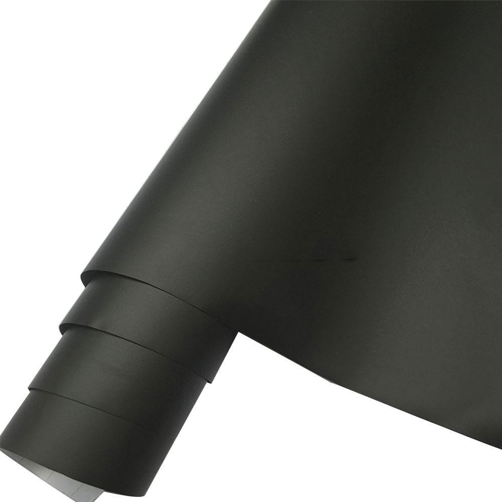 VEHEMO 30x152CM PVC Matte Black Car Sticker Styling Decal Membrane Air Release Bubble Free Wrap Adhesive Film Sheet