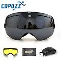 COPOZZ marca gafas de esquí capa 2 lente anti-niebla UV400 día y noche esférica snowboard gafas de las mujeres de los hombres de esquí nieve gafas conjunto