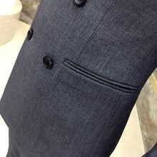 Complete Suit Man's Suit 3 Pcs Costume Mariage Homme Self-cultivation Male Leisure Time Suit Male Loose Coat Jacket+vest+pant