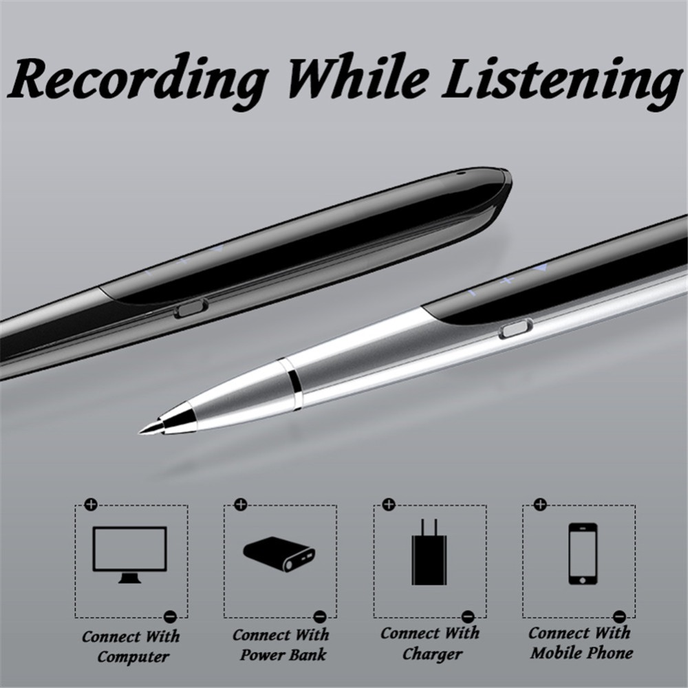Volemer Q9 Digital Recorder Led Display Digital Audio Sound Voice Recorder Pen Professional Dictaphone Protable Mini Mp3 Player (8)