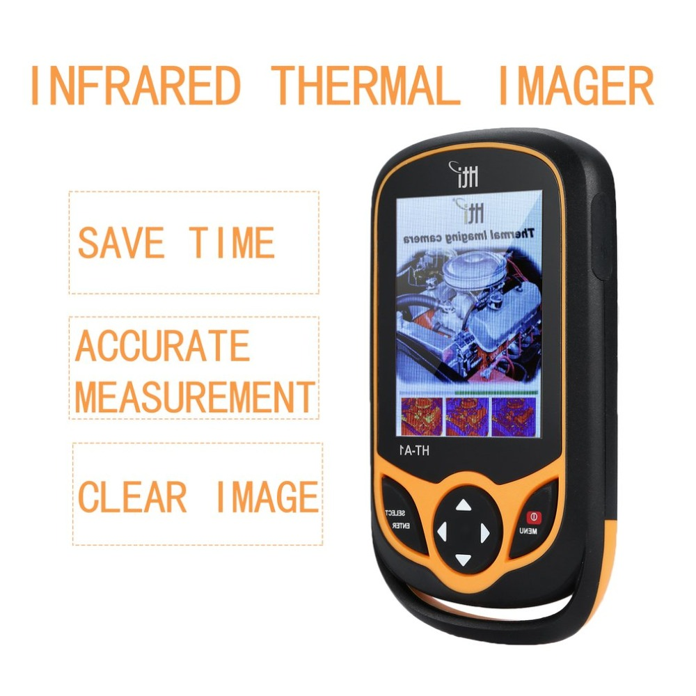 HT-A1 Portatile USB Ricaricabile Thermal Imaging Camera con 3.2 Pollici TFT Screen Display Selezionabile Colore Tavolozze